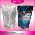Printed zipper plastic food packaging bag/aluminum foil ziplock bag