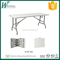 Fold-in-half HDPE rectangle table 152cm for BBQ, camping, picnic and dinning