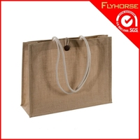 shopping bag China for blank jute shopping bag