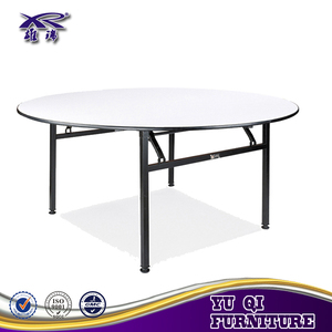 Fancy hotel restaurant folding iron frame round banquet table