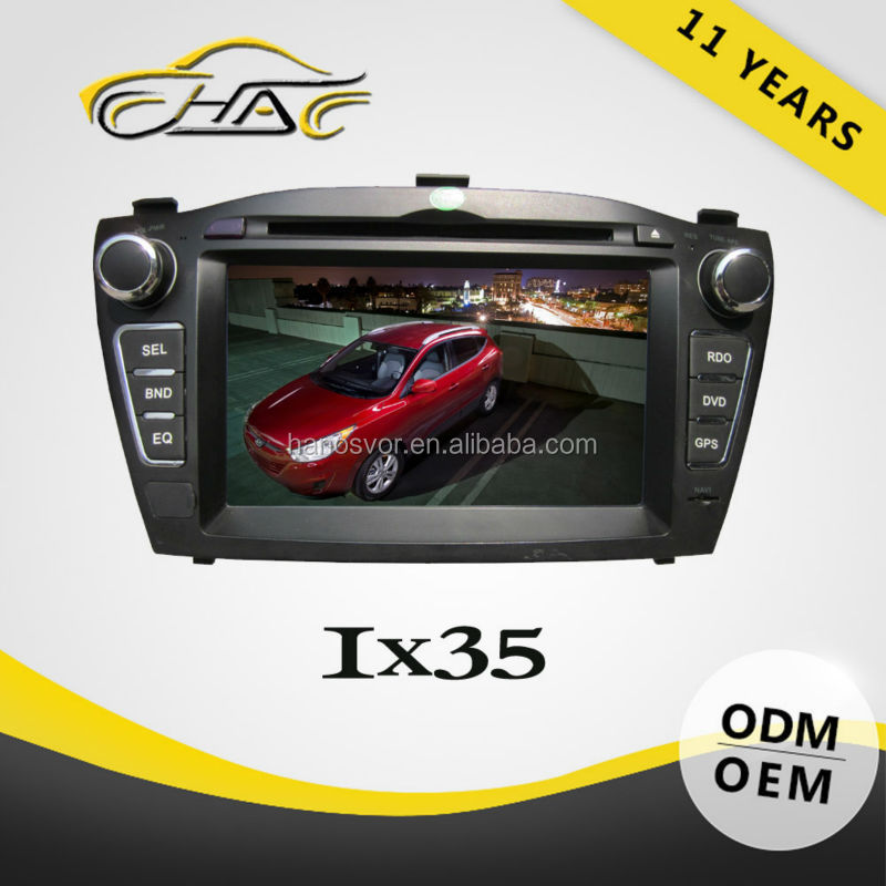 Hot sale car dvd player with gps for Hyundai IX35/Tucson