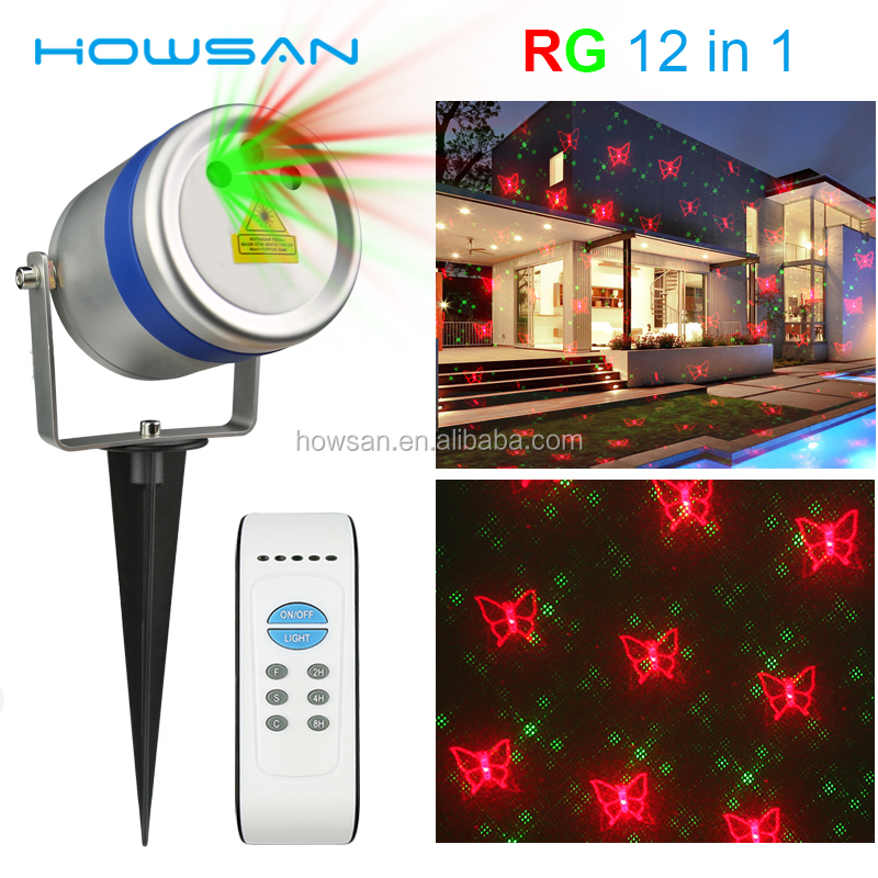 Outdoor Waterproof RGB full colors multi 12 patterns Christmas Garden Wedding laser light