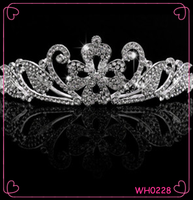 Hot sale fashion wedding bride alloy crystal royal crowns and tiaras bridal crown combs hair jewelry