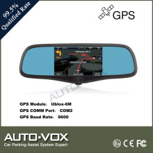 5 inch smart rearview mirror with gps bluetooth camera