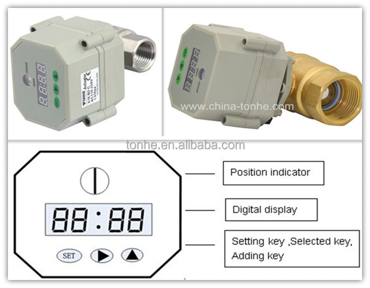 NSF61 Eletric Timer Controlled automatic water ball valve
