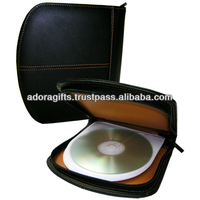 ADACD - 0009 new design round dvd case / custom leather design dvd cases / black color movie dvd case