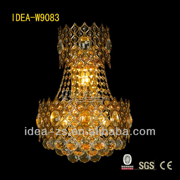 Indoor high quality crystal balls beads wall lamp sconce lighting, Laidi factory W9083
