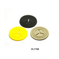 Functional earphone label soft PVC injection rubber label patch