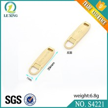 Plating embosed injection technics zipper tabs and puller