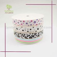 Cute printed make grosgrain ribbon bow