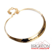 Burnished Gold Collar Necklace For Women N6-8244-4300