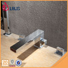 Modern deck mounted chrome waterfall bathtub faucet with hand shower mixer tap