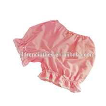 Baby Girl Light Color Diaper With Lace Ruffle Style Girls Ruffle Bloomer Pink Short