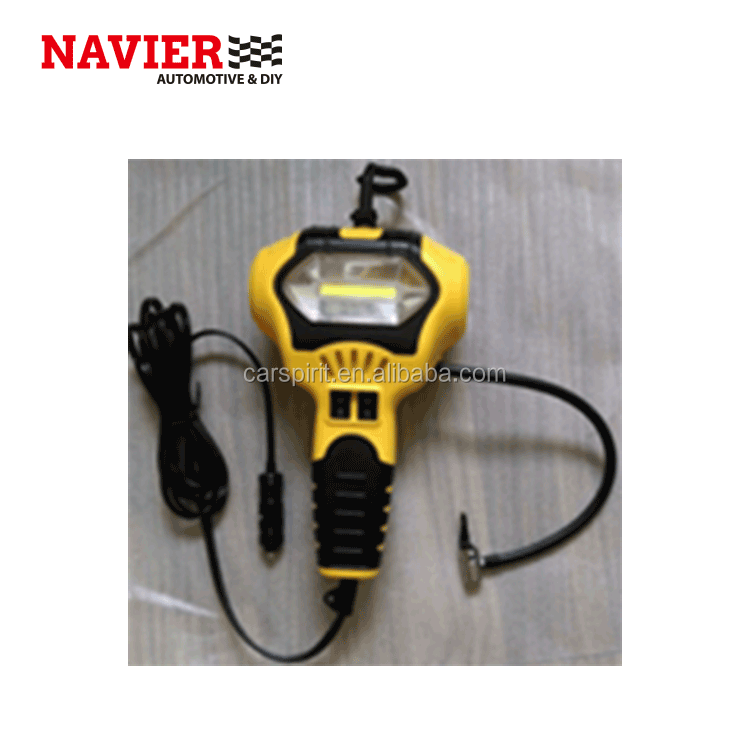 5W COB LED Inspection Light Work Light with air compressor&pressure gauge, with retractable Cord Reel for garage home camping
