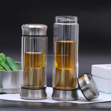 500ml Double-Walled Tea Cup with Tea Infuser