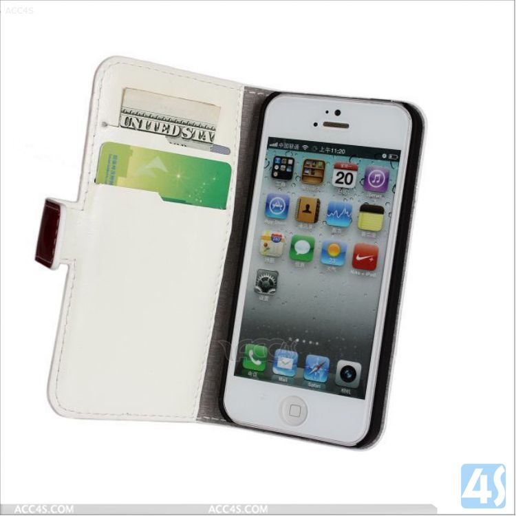 Bulk buy from china luxury flip wallet genuine leather wholesale cell phone case for iphone 5 5s phone accessory