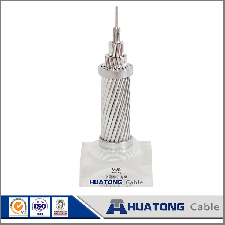Cable wires bare BS 215 standard alumininum conductor steel reinforced ACSR conductor Zebra