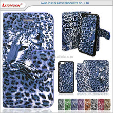 leopard leather wallet phone case for sony xperia s x o d h acro 04 05 03 cover