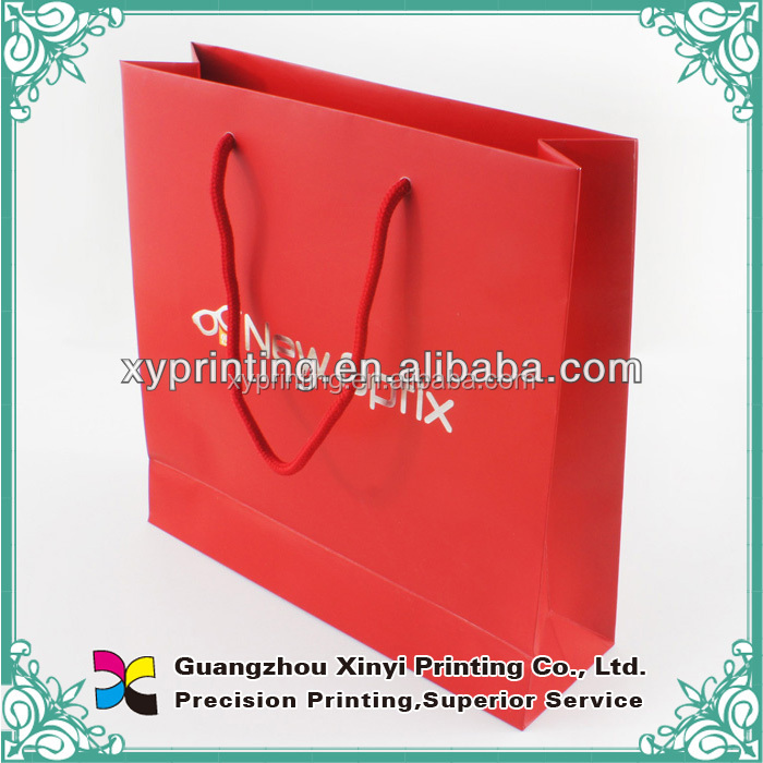 Hot popular laminated art paperbags for valentine's day/custom paper bag, red paper bags, large paper shopping bags