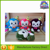Perfect superior party monkey with different size and color soft plush gift toy doll