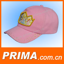 pink printed and embroidered caps and hats for girl