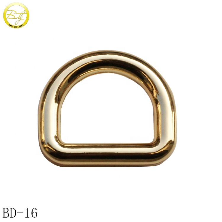 <strong>D</strong> shape buckle hardware custom logo <strong>d</strong> ring belt buckle for Handbag