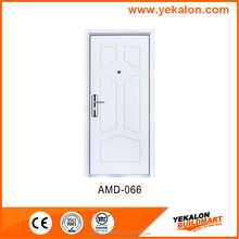 Yekalon AMD-066 wood finish Armored door flush series security stainless steel grill door design door
