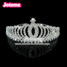 Noble Full Round Crowns King Queen Tiaras for Wedding Bridal Pageant Prom Party