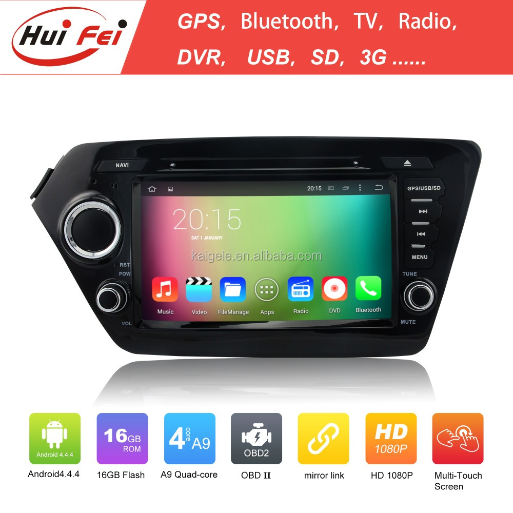 Rk3188 Quad Core Android 4.4 Capacitive Touch Screen 1024*600 Mirror Link Car Multimedia For Kia Rio Car Gps Navigation System