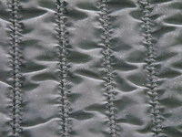 Stripe quilted embroidery fabric,polyester padded quilted fabric