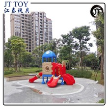 Plastic Children kindergarten playsets JT17-4202 used commercial outdoor Backyard playground equipment for sale