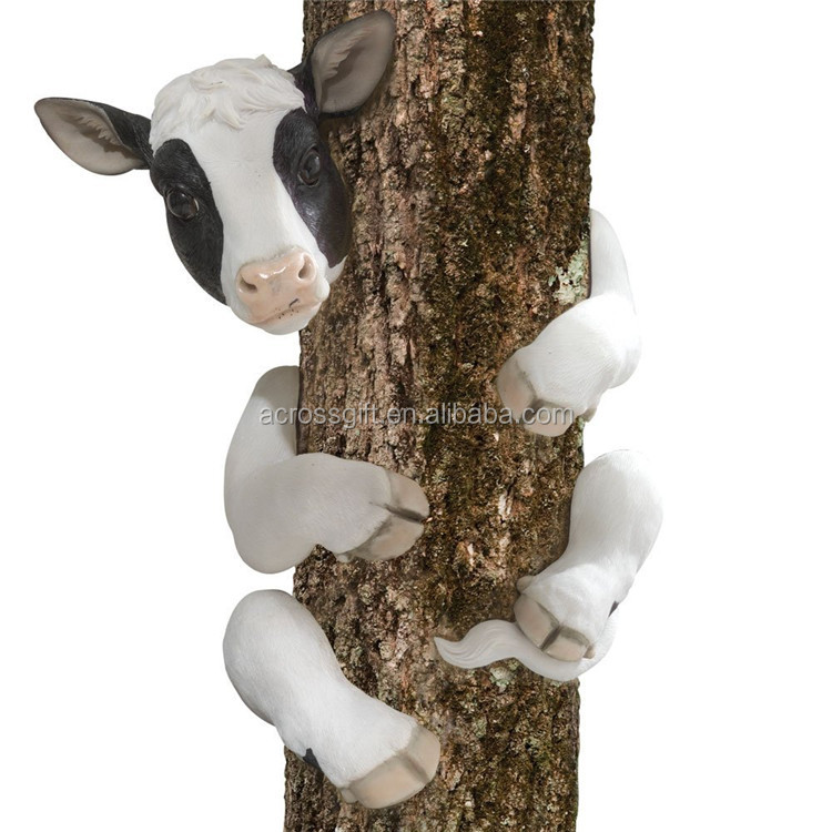 Tree Hugger Cow Garden Decorative Tree Faces for Sale