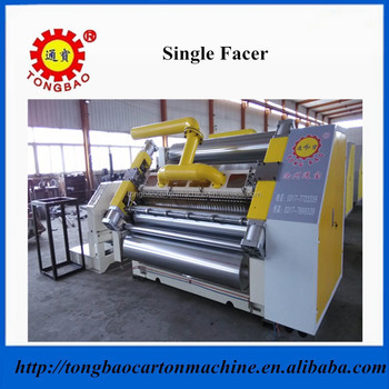 Flute Cassette Change Type Single Facer Carton Machine