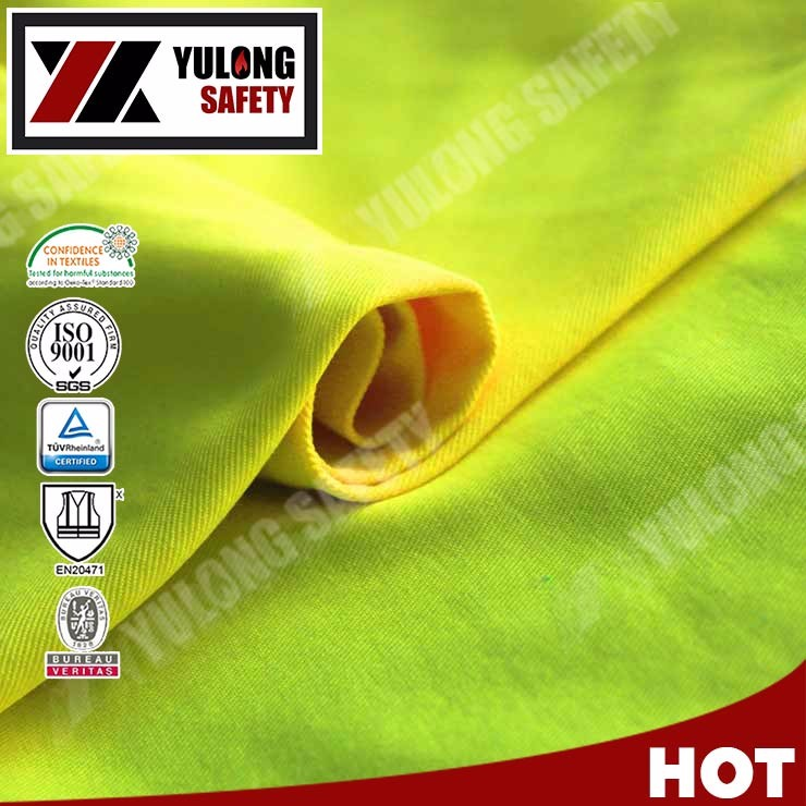 EN20471 Waterproof High Vis Fluorescent Fabric For Police Safety Vests