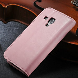 leather flip case for samsung galaxy s duos s7562