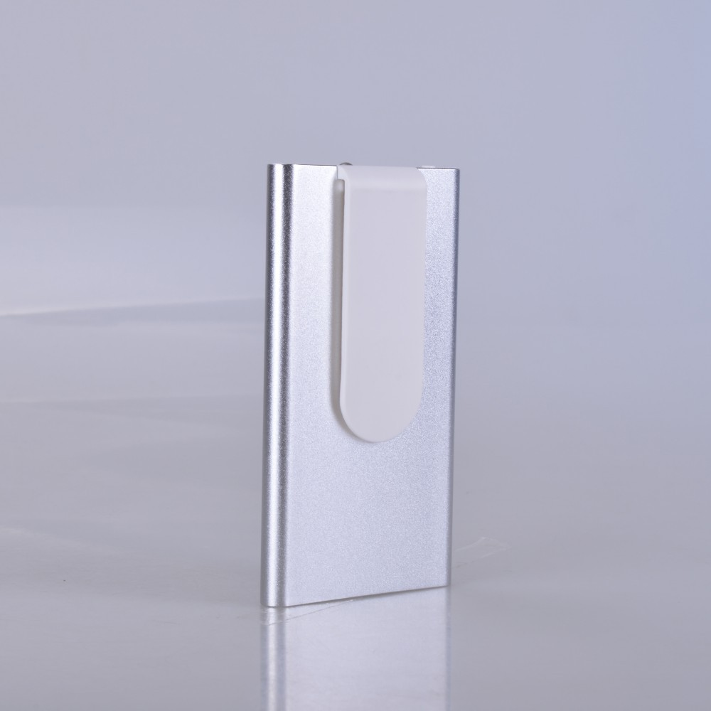 new design unique model ultra thin portable USB Slim power bank with 4000 real capacity feel comfortable