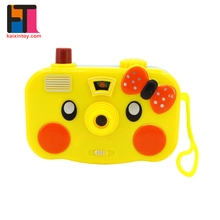 promotional items china kids plastic lovely toy camera with projector