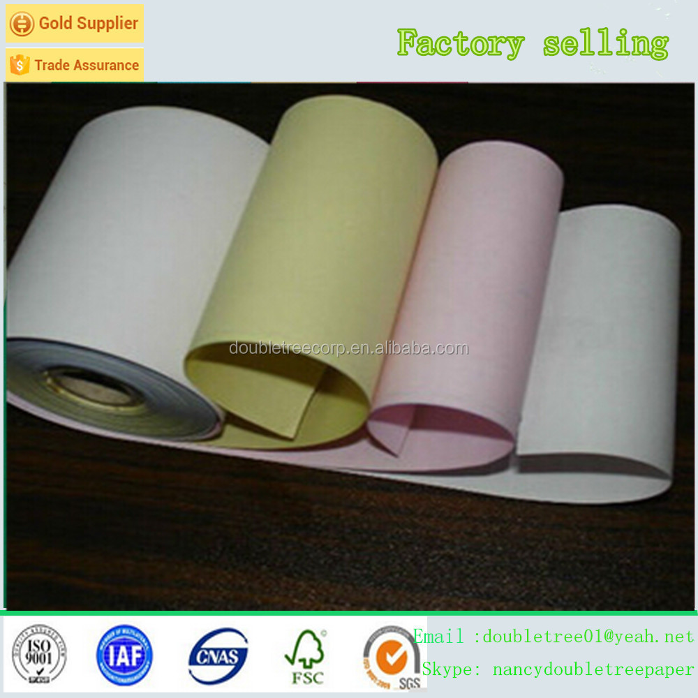 Hot sale blue image 2ply high quality carbonless NCR Paper Roll manufacturer carbonless paper