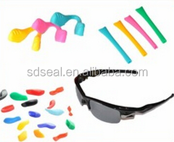 Comfortable and safe silicone rubber accessories for sports sun glasses