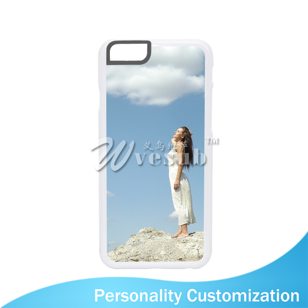 Newest Popular Bulk Decorative 5 Inch Transparent Plastic PC Rubber 2D Sublimation Blank Cell Phone Case For iPhone 6s