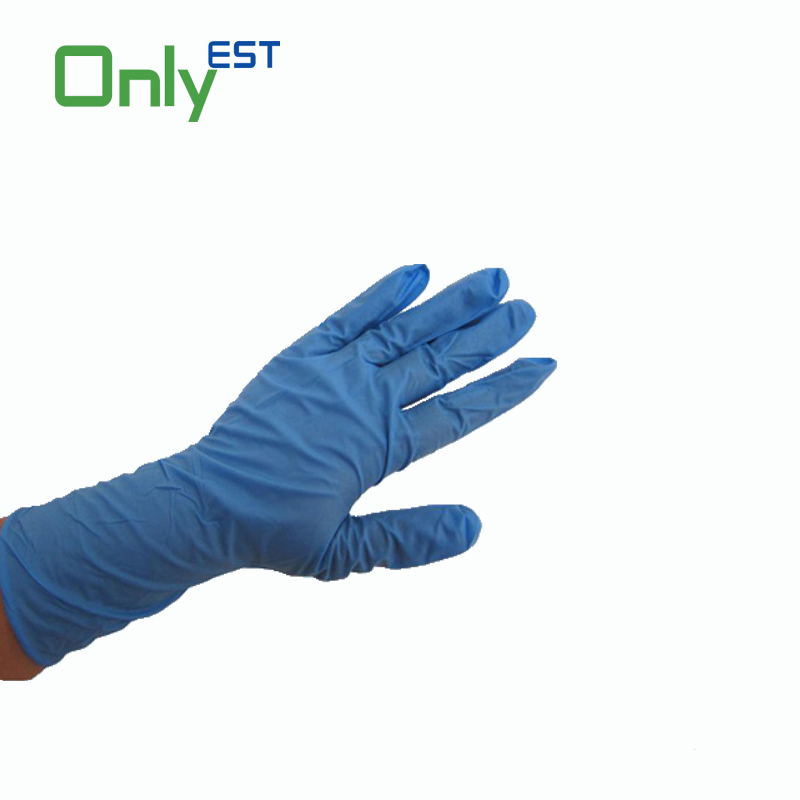 A grade powder free chemical resistant latex free nitrile exam glove