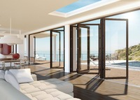 Gloriours design aluminum bifold/folding door