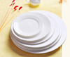 Haonai 5,6,7,8 ,9 ,10,11 inch Double Line Dinner Plate, Set of 6, White BPA-Free Dinner Plate