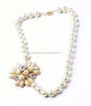 Trendy Women Flower Pearl Necklaces 2014