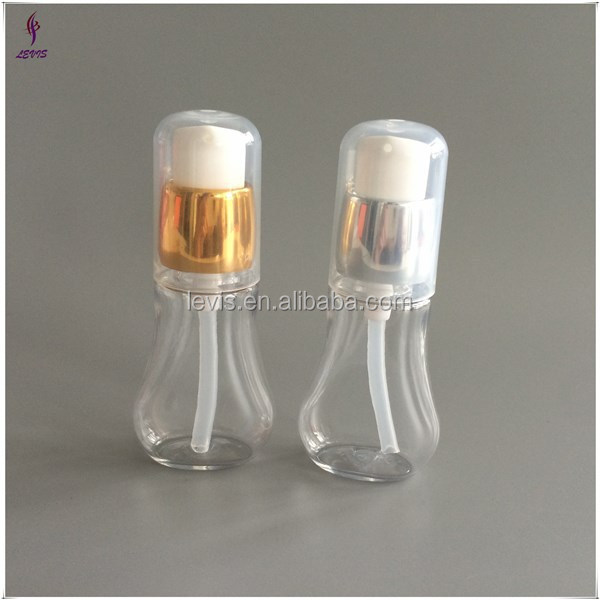 Mini Empty hotel lotion bottles with aluminum pumps in 25ml