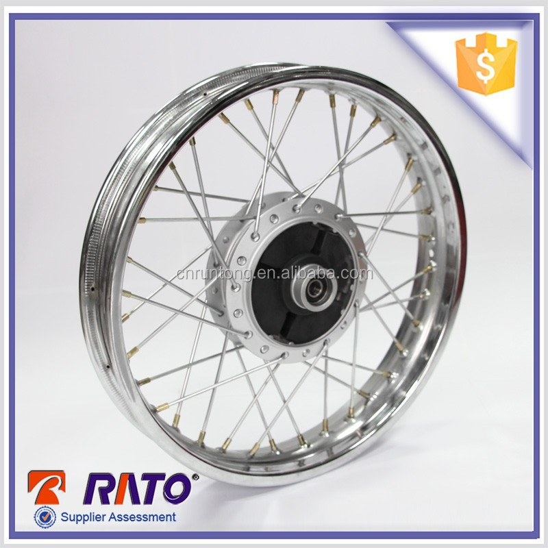 China manufacture supply chrome 17 inch motorcycle spoke wheel