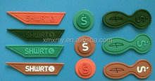 Garment Soft PVC & silicone label/ Zipper Label/ Cloth Patch
