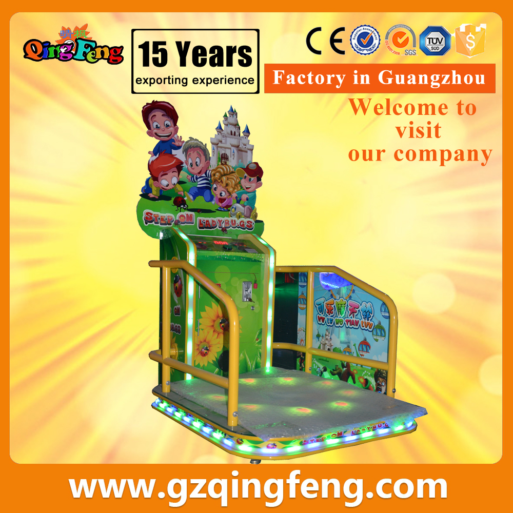 Qingfeng step on ladybugs kids learning games indoor coin operated game machine