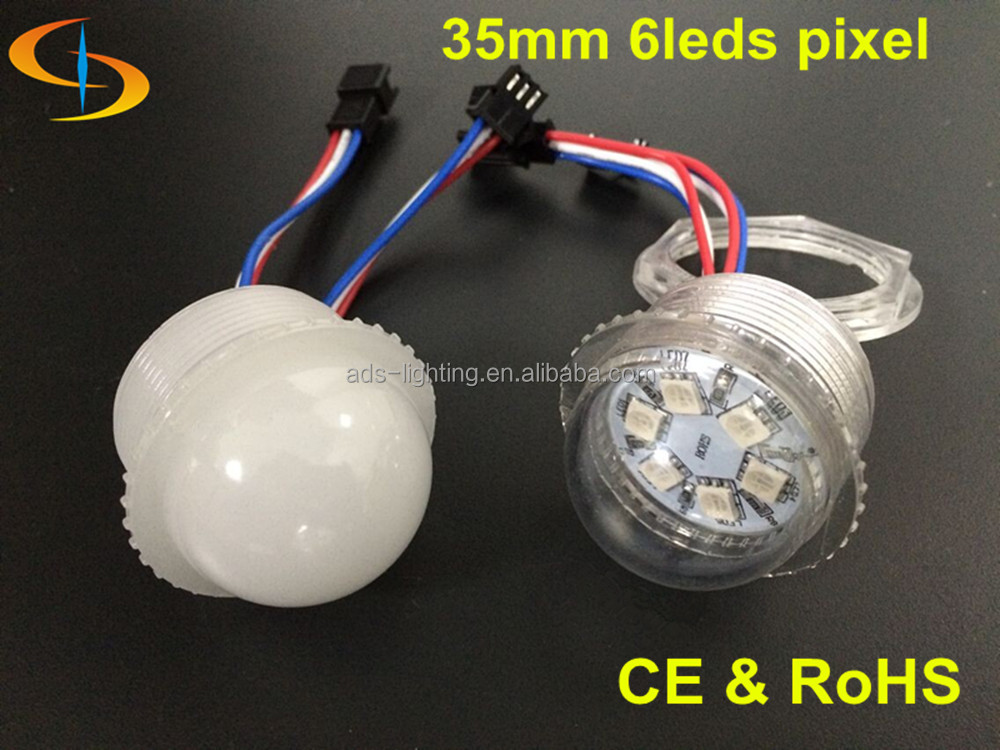 cabochon 35mm 6 led rgb point lights for ferris wheel amusement park