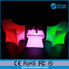 Outdoor/indoor party/nightclub/salon illuminated led light bar table chair